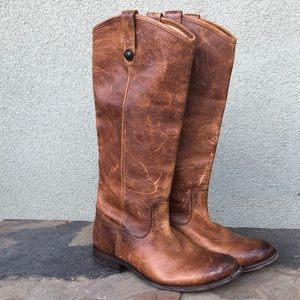 Frye distressed Melissa button boot